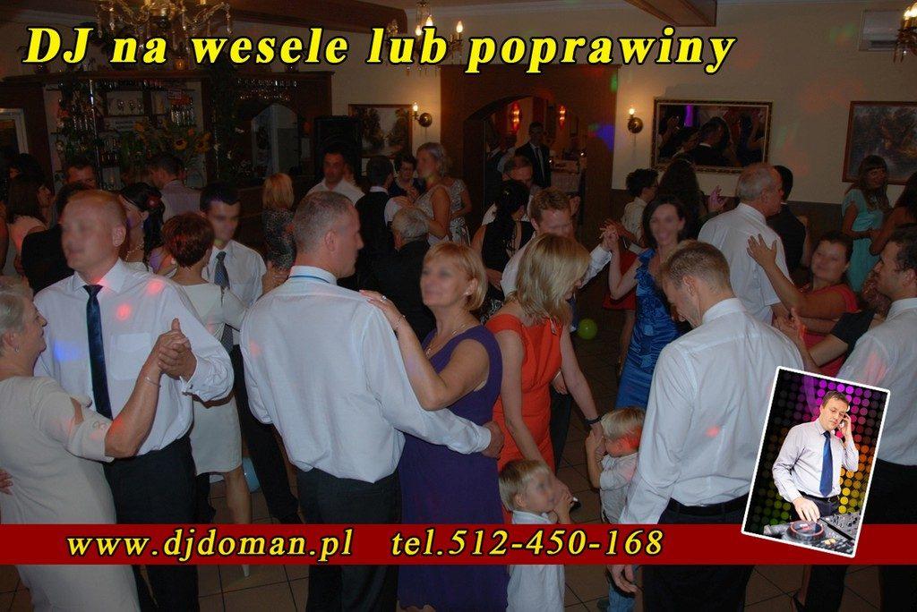 Jarosław Dj Doman na poprawiny, wesele