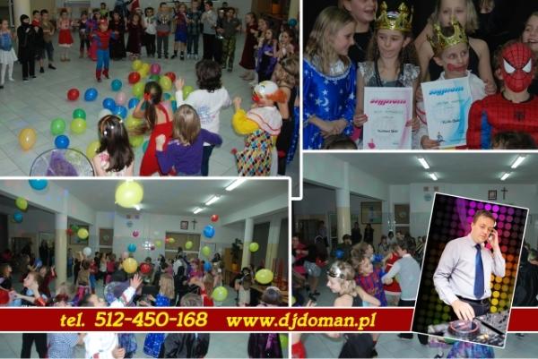 Zabawa noworoczna w szkole konkursy Didżej Doman
